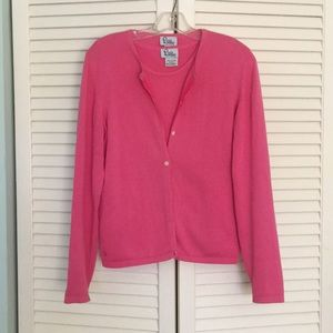 Lilly Pulitzer hot pink sweater set in small